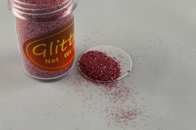 88017 - 15g Rose Pots of Colourful Glitter