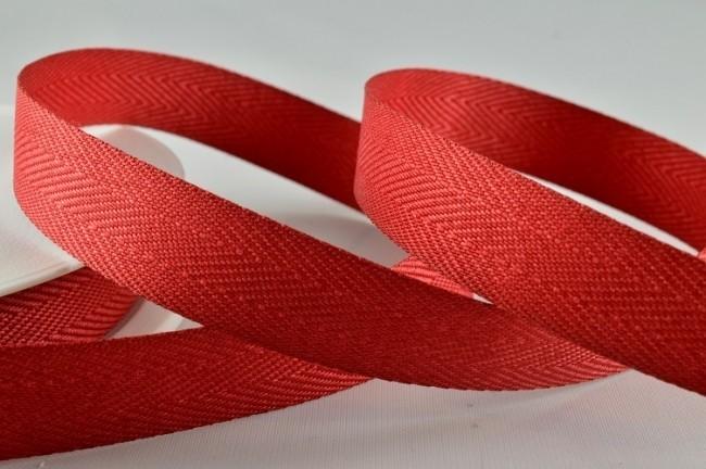 53782 - 25mm Red Herringbone Ribbon x 50 Metre Rolls!
