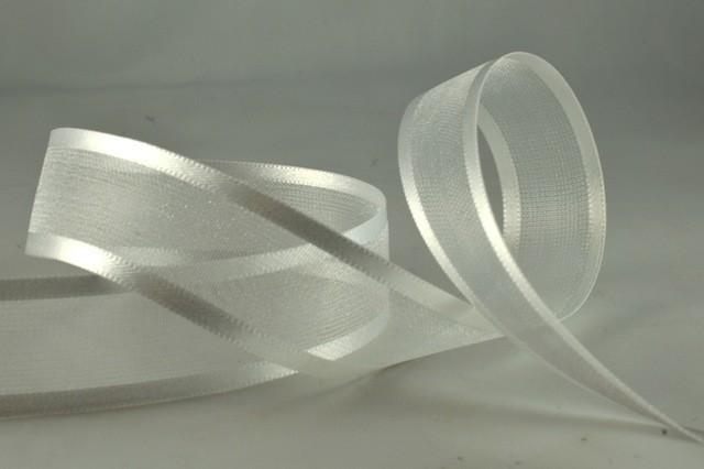 54420 - 70mm White Satin Sheer Ribbon x 25 Metre Rolls!