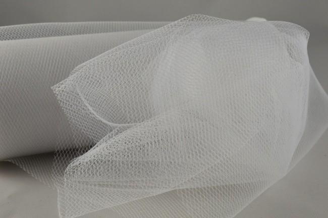 88016 - 150mm White Coloured Nylon Tulle Fabric (10 Metres)