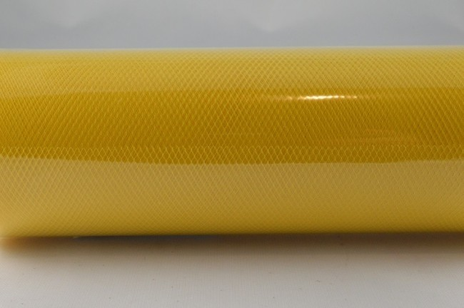 88016 - 150mm Yellow Coloured Nylon Tulle Fabric (10 Metres)