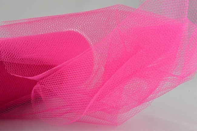 88016 - 150mm Fuschia Coloured Nylon Tulle Fabric (10 Metres)