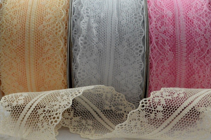 88073 - 38mm Coloured Lace Design x 10 Metre Rolls!!