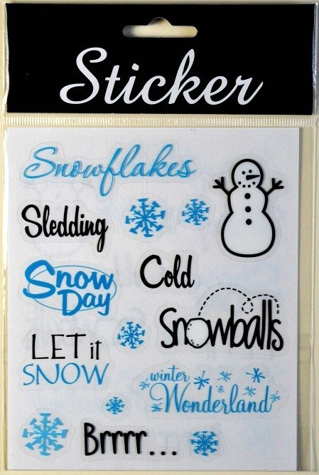 88086 - Christmas Snowday Themed Stickers
