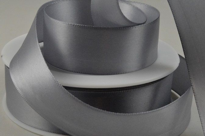 93977 - 15mm Silver Double Sided Satin x 25 Metre Rolls!