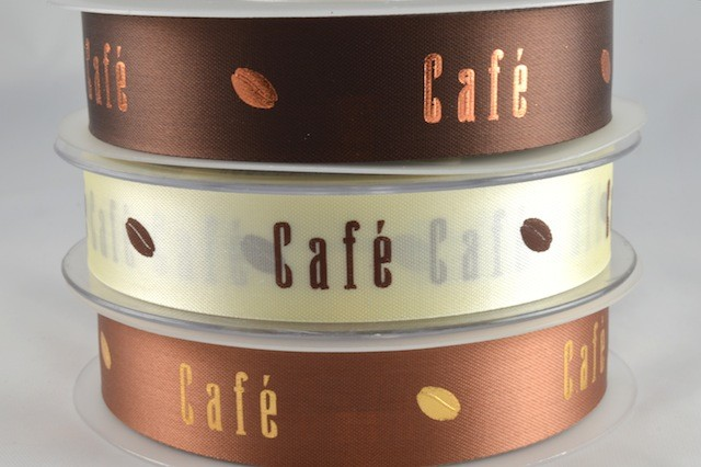 94226 - 15mm & 24mm Cafe & Cocoabean Ribbon (50 Metres)