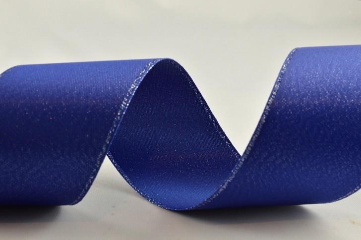 38mm Blue & Silver Lurex woven Ribbon x 4 Metres!!