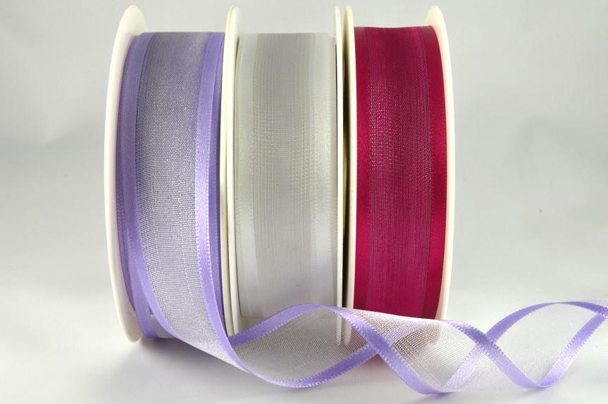 54420 - 10mm, 15mm, 25mm, 40mm & 70mm Satin Sheer Ribbon x 25 Metre Rolls