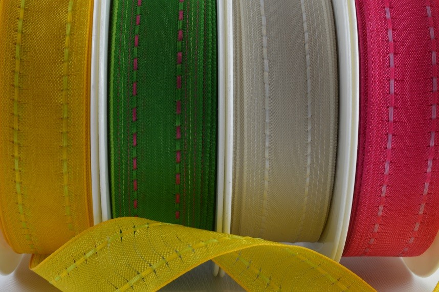 43920 - 40mm Wired Colour Woven Ribbon (3 Metres & 20 Metres)