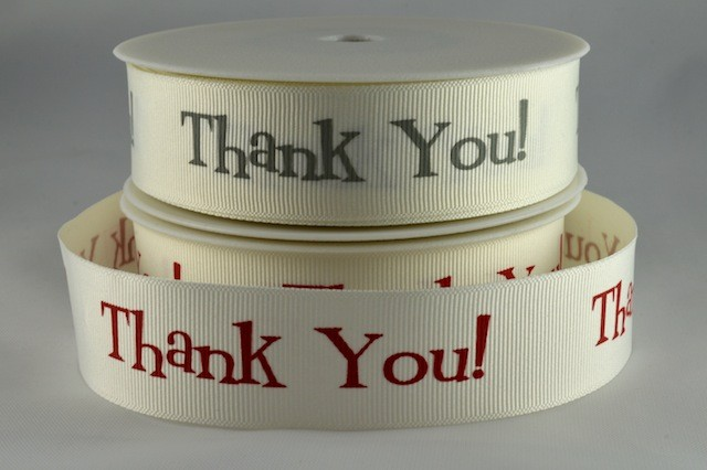 54557 - 25mm Printed Thank You! Ribbon (20 Metres)