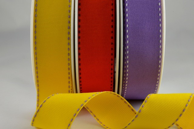 53783 - 25mm Grosgrain with side stitch (20 & 100 Metres)