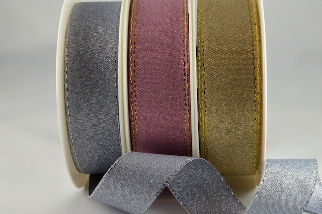 54034 - 9mm, 19mm, 24mm & 36mm Lurex Ribbon with Lurex Edge (20 Metres & 100 Metres)