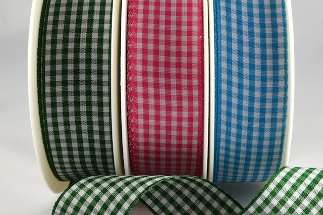 54102 - 5mm, 10mm & 25mm Gingham Ribbon (25 Metres)