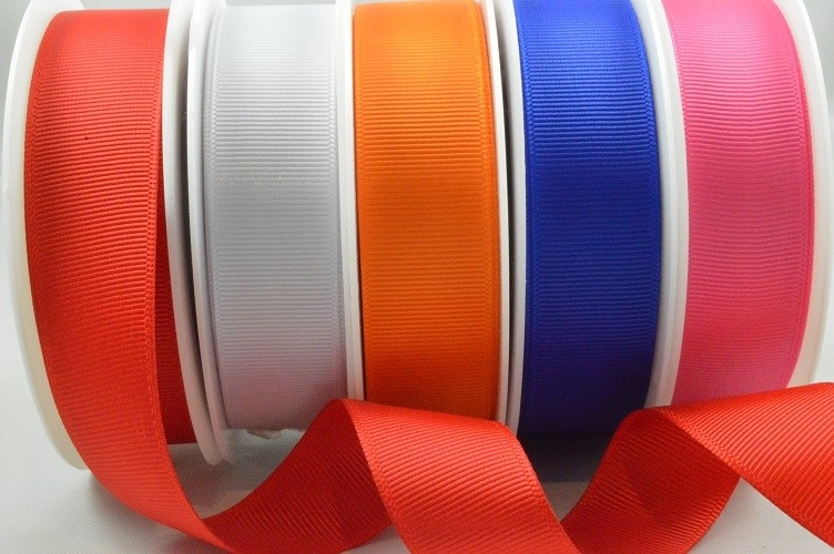 53754 - 6mm, 10mm, 16mm & 22mm BULK Plain Grosgrain Ribbon (100 Metres)