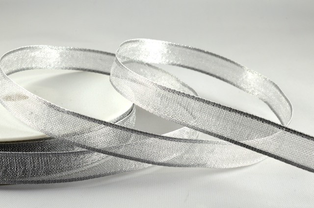 44095 - 10mm Silver Narrow Wired Sheer x 3 Metre Rolls!!