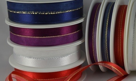 53554 - 10 & 22mm Central Lurex with sheer & satin (20 Metres)