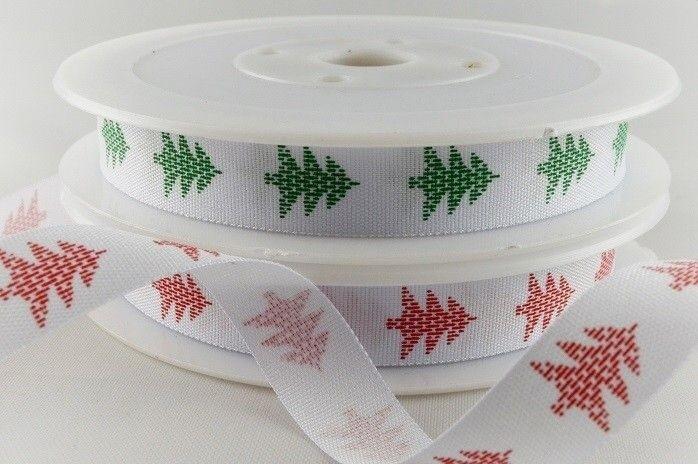 54504 - 12mm Classic Christmas Tree Ribbon x 20 Metre Rolls!!