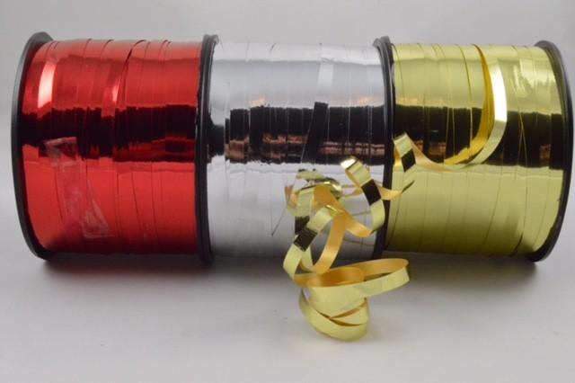 77016 - 5mm Metallic Coloured Polypropylene Curling Ribbon x 250 Metre Rolls!!