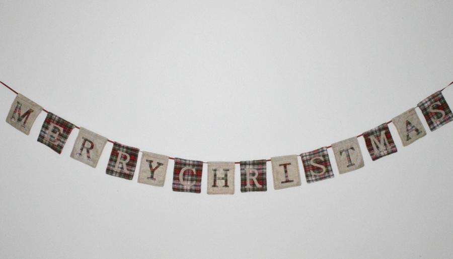 Merry Christmas Hanging Garland
