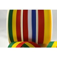 53998 - 15mm, 25mm & 40mm Striped Flag Ribbon (25 Metres/100 Metres)