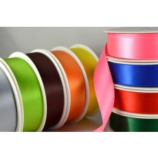 93977 - 3mm, 7mm, 10mm, 15mm, 25mm, 38mm & 50mm Double Sided Satin (25 Metres & 50 Metres)