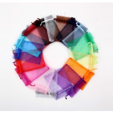 88001/88002/88003 - Coloured Organza bags (12 Bags per Pack)