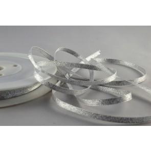 54107 - 3mm Silver Woven Glitter Ribbon x 20 Metre Rolls!