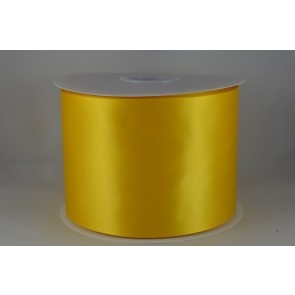 54033 100mm - Yellow Single Satin Sash Ribbon (50 Metres)