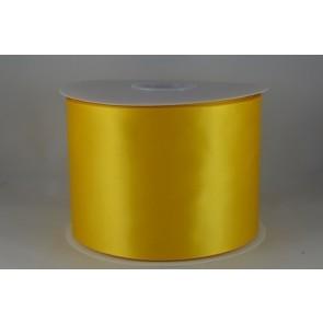 54033 100mm - Yellow Single Satin Sash Ribbon (50 Metres)