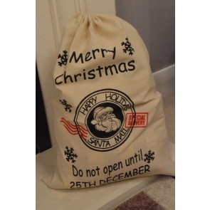 88047 - Merry Christmas Hanging Gift Sack x 1 Piece!!