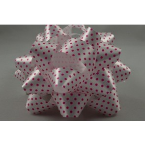 31163 - 2 x Fuschia Polka Spotted Gift Box Self Adhesive Bows!