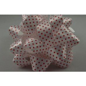 31163 - 2 x Red Polka Spotted Gift Box Self Adhesive Bows!