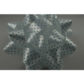 31163 - 2 x Baby Blue Polka Spotted Gift Box Self Adhesive Bows!