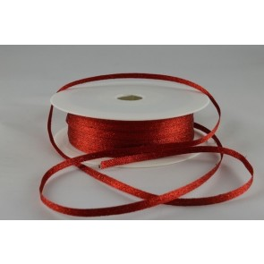 54107 - 3mm Red Woven Glitter Ribbon x 20 Metre Rolls!