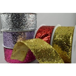 46016 - 38mm Wired Sequin Ribbon x 10 Metre Rolls!