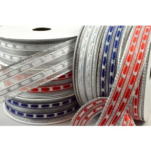 46045 - 16mm & 25mm Wired Lurex Lined Ribbon x 10 Metre Rolls!