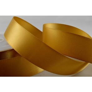 93977 - 10mm Dark Gold Double Sided Satin x 25 Metre Rolls!
