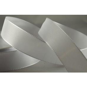53703 - 25mm White Taffeta Ribbon (50 Metres)