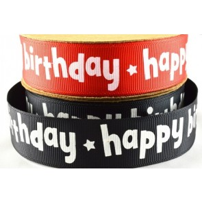 54015 - 22mm Happy Birthday Ribbon (10 Metres)