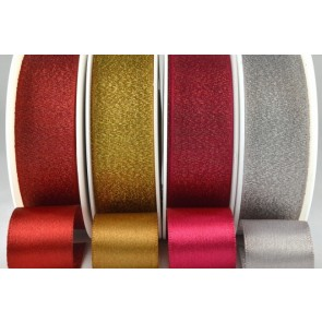54259 - 25mm Satin Glitter Ribbon (20 Metre Rolls)