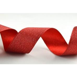 54259 - 25mm Red Satin Glitter Ribbon (20 Metre Rolls)