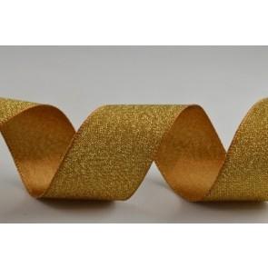 54259 - 25mm Gold Satin Glitter Ribbon (20 Metre Rolls)