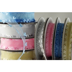 55007 - 15mm & 25mm Coloured Heart Edged Ribbon (10 Metres)