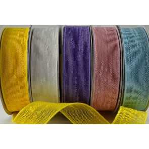 55008 - 25mm & 38mm Colour Woven Slub Ribbon (10 Metres)