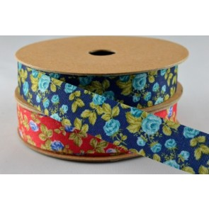 55016 - 15mm Coloured Flower Print (10 Metres)