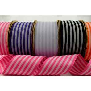 55024 - 39mm Coloured Striped Ribbon x 10 Metre Rolls!!