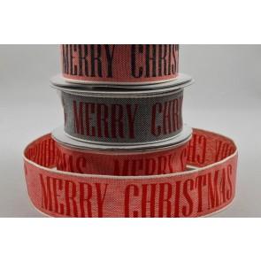 55044 - 25mm Merry Christmas Block Printed Ribbon x 10 Metre Rolls!!