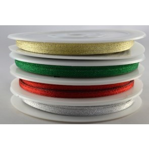 54107 - 3mm Colour Woven Glitter Ribbon x 20 Metre Rolls!