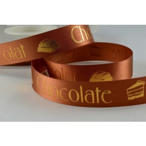 94215 - 24mm Chocolate & Cake Printed Ribbon (50 Metres)