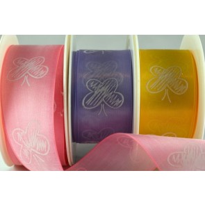 64006 - 40mm Sheer Printed Butterfly Ribbon (20 Metres)